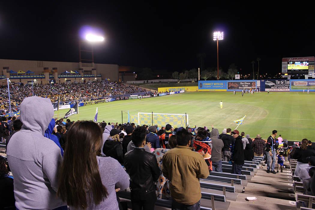 Las Vegas y Reno empataron en juego correspondiente a la jornada 2 de la USL. Sábado 24 de marzo del 2018. Estadio Cashman. Foto Cristian De la Rosa / El Tiempo - Contribuidor.