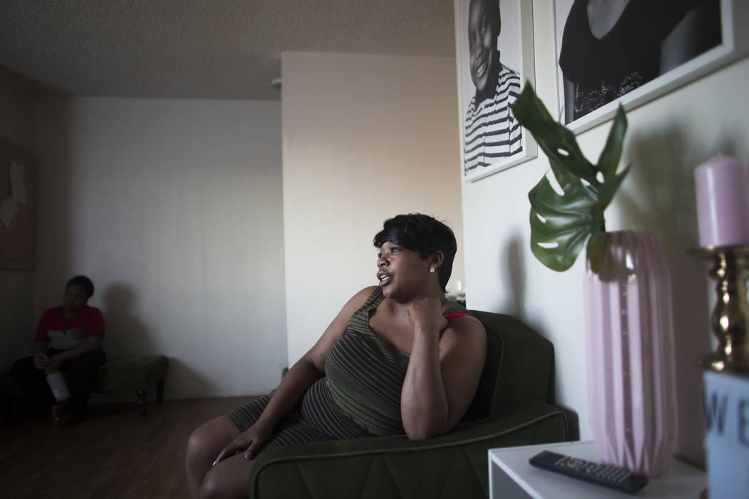 Jacenta Harris en su casa de Las Vegas, miércoles 14 de marzo de 2018. (Rachel Aston Las Vegas Review-Journal @rookie__rae)