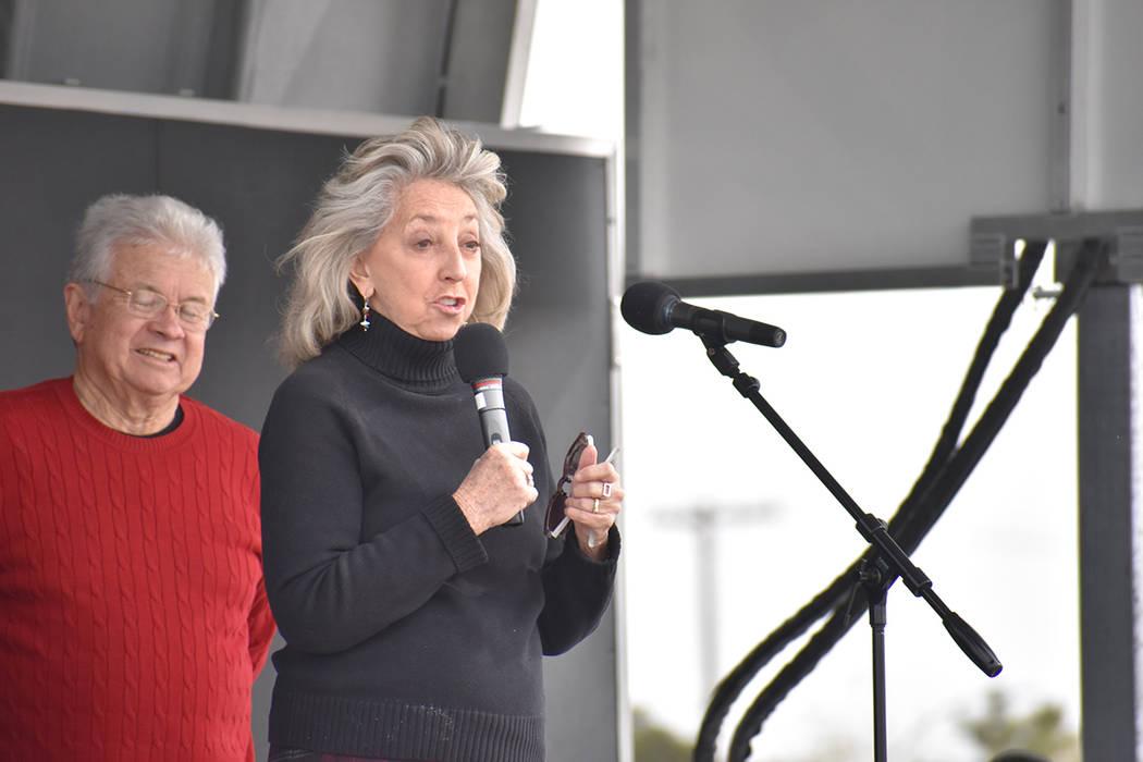 La congresista Dina Titus fue una de las invitadas del evento. Sábado 24 de marzo de 2018 en parque Gary Reese Freedom. Foto Anthony Avellaneda / El Tiempo.