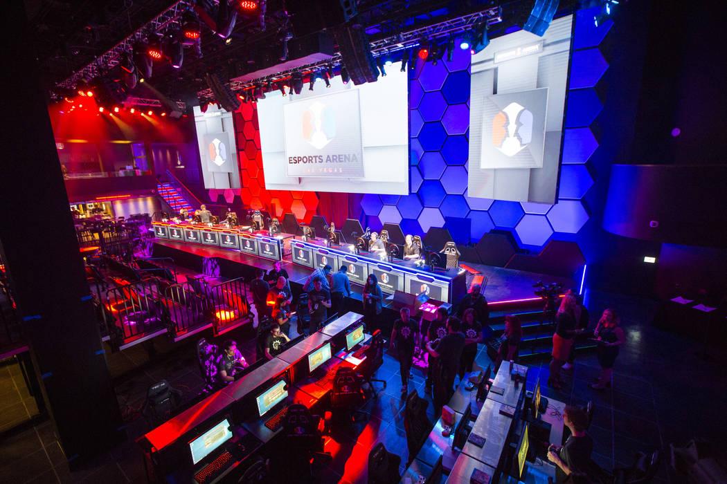 El interior en el Esports Arena horas antes de la gran apertura en el Luxor en Las Vegas el jueves 22 de marzo de 2018. Chase Stevens Las Vegas Review-Journal @csstevensphoto