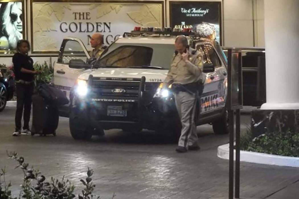 La policía de Las Vegas está investigando un apuñalamiento que tuvo lugar el martes por la mañana cerca del Golden Nugget en el centro de Las Vegas. (Max Michor / Las Vegas Review-Journal)
