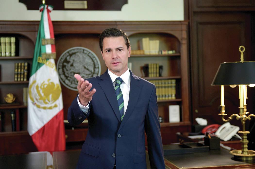 El presidente de la República, Enrique Peña Nieto, dirigió un mensaje referido a la relación entre México y los Estados Unidos de América. México, 5 Abr 2018 (Notimex- Presidencia).