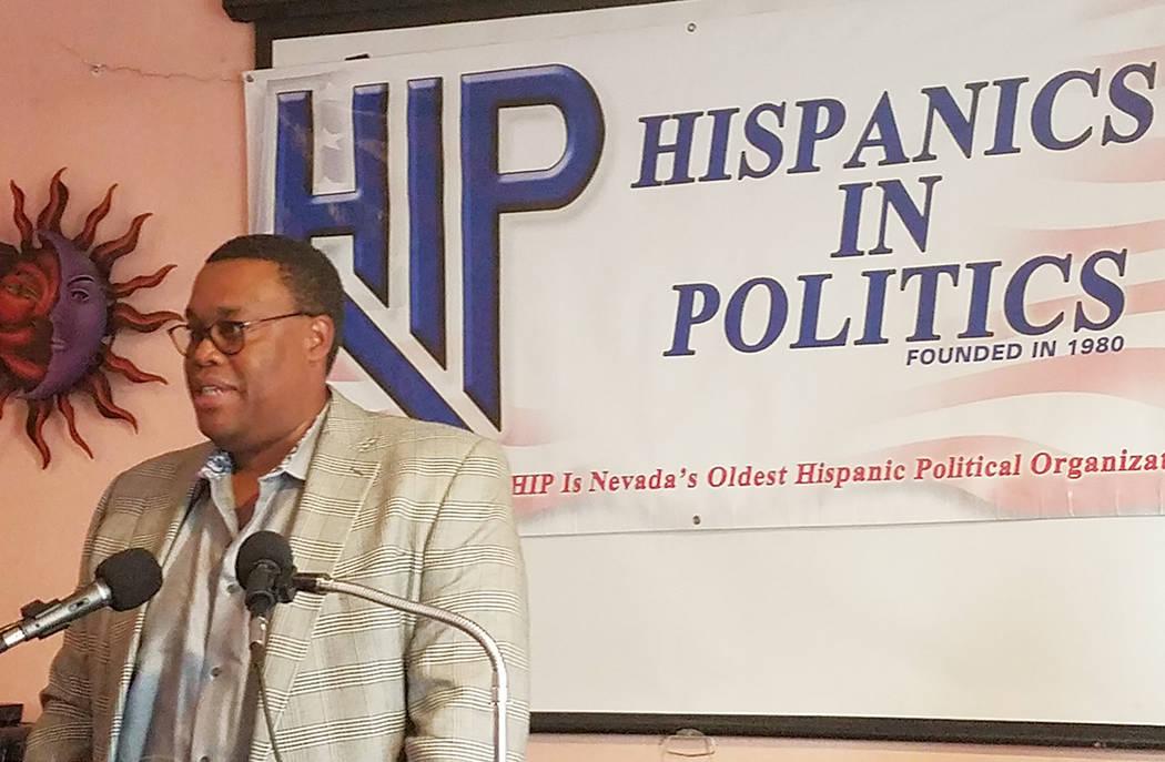 Cedric Crear participó en el foro de Hispanos en Política, el pasado miércoles 4 de abril de 2018. Foto Cortesía.