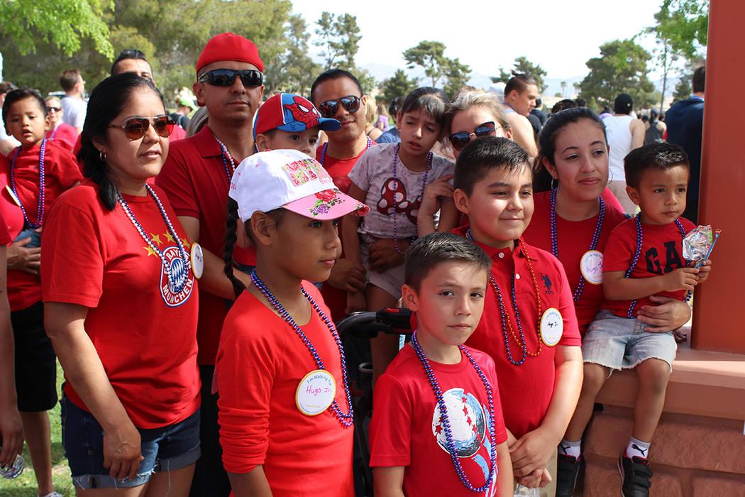 La familia Reyes asistió al evento luego de que Hugo Jr. murió por suicidio. Sábado 7 de abril del 2018. Craig Ranch. Foto Cristian De la Rosa / El Tiempo - Contribuidor.