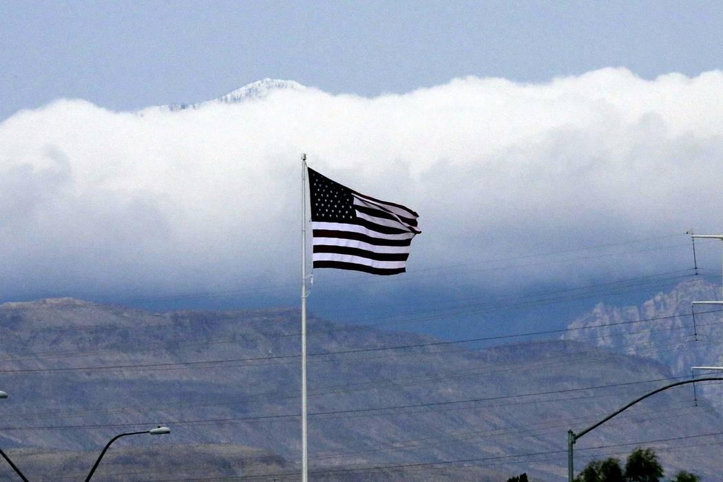 Una alerta de vientos fuertes ha sido emitida para el Valle de Las Vegas hasta el jueves. (Bizuayehu Tesfaye / Las Vegas Review-Journal) @bizutesfaye