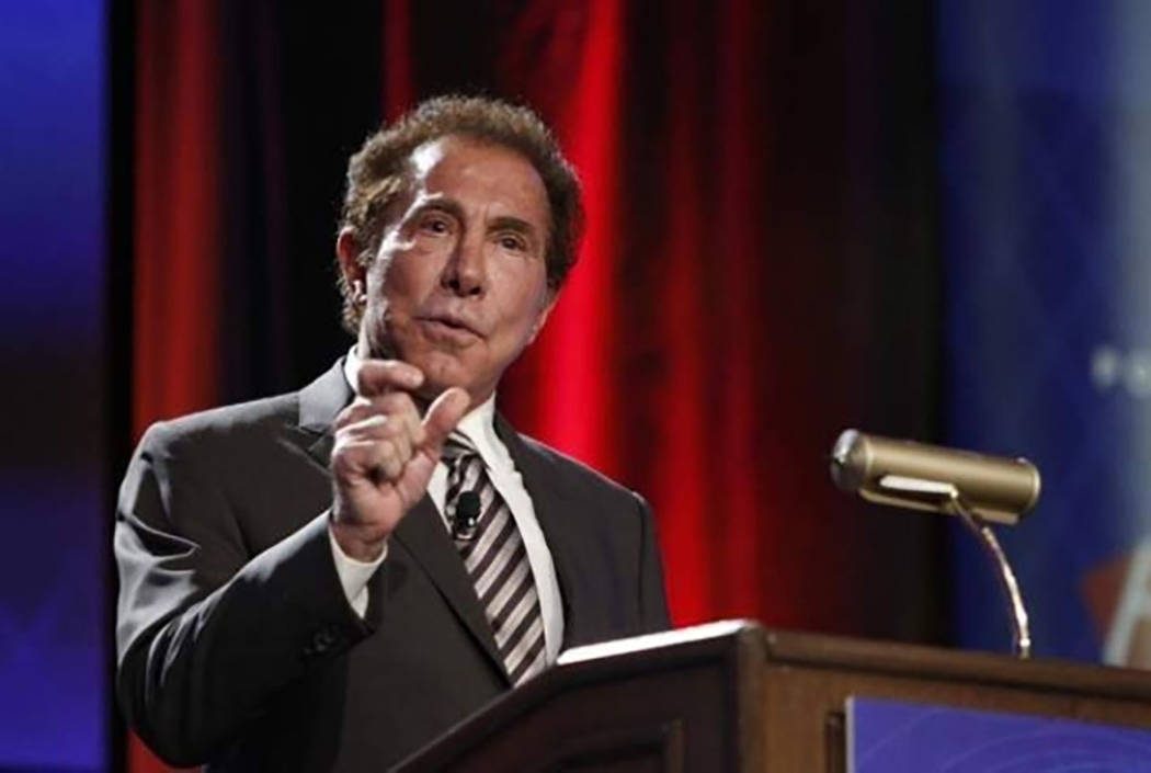 Steve Wynn habla en una reunión en 2014. (Erik Verduzco / Las Vegas Review-Journal)