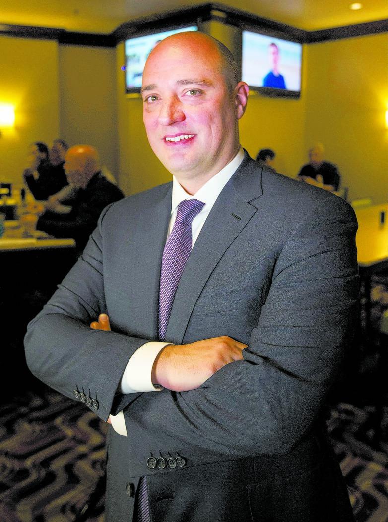 Matt Maddox, el nuevo CEO de Wynn Las Vegas, el lunes 19 de febrero de 2018. Richard Brian Las Vegas Review-Journal @vegasphotograph
