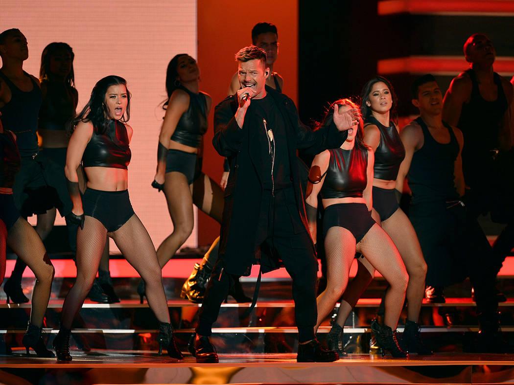 PREMIOS BILLBOARD DE LA MÚSICA LATINA 2018. Ricky Martin en el escenario en el Mandalay Bay Resort y Casino en Las Vegas, NV el 26 de abril de 2018. Foto John Parra / Telemundo.