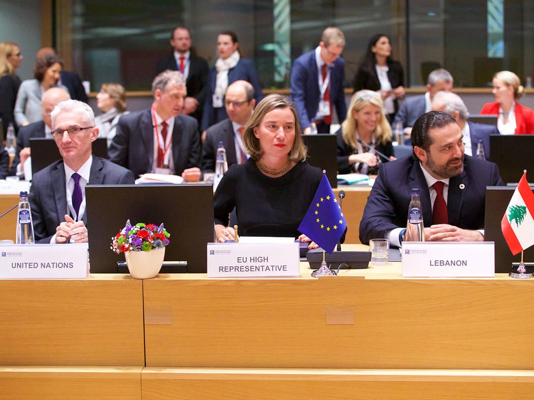 Bruselas, 25 Abr 2018 (Notimex-Consejo Europeo).- Durante la conferencia internacional de donantes para Siria, Federica Mogherini, alta representante de la UE para Asuntos Exteriores y Política d ...