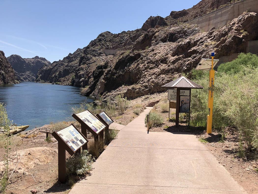 """Acceso al paseo """"Postcard"""" de Black Canyon River, cerca de la presa Hoover, el 29 de abril del 2018. Foto Valdemar González / El Tiempo - Contribuidor."""