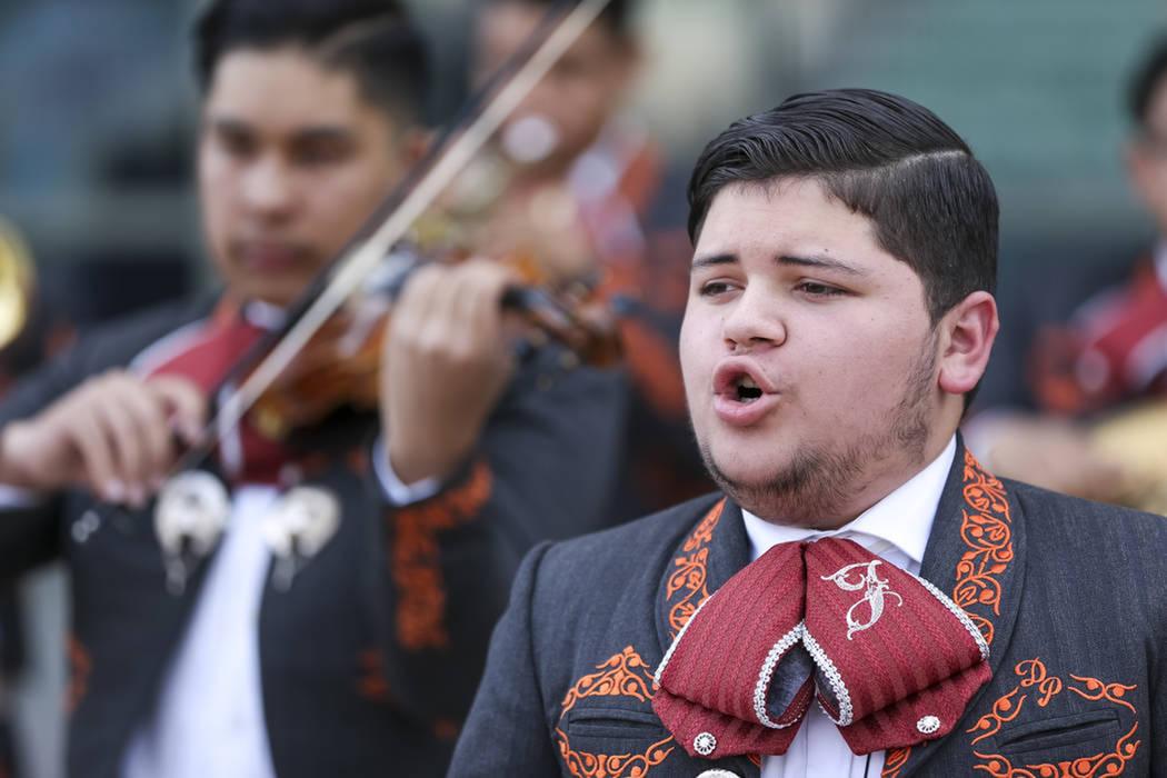 Mariachi Los Jaguares deleitaron a los presentes con música mexicana. Sábado 5 de mayo de 2018 en hotel y casino Cannery. Foto Richard Brian / Las Vegas Review-Journal.