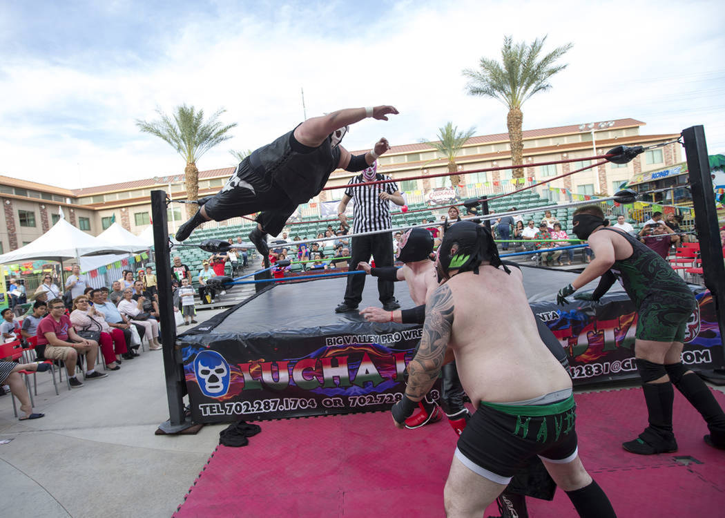 Este evento contó con la mejor exhibición de Lucha Libre para el Cinco de Mayo. Sábado 5 de mayo de 2018 en hotel y casino Cannery. Foto Richard Brian / Las Vegas Review-Journal.