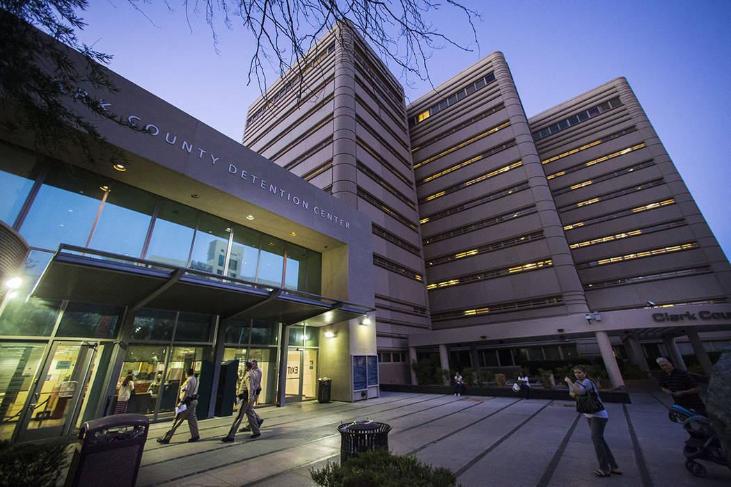 El Centro de Detención del Condado de Clark en el centro de Las Vegas (Las Vegas Review-Journal)