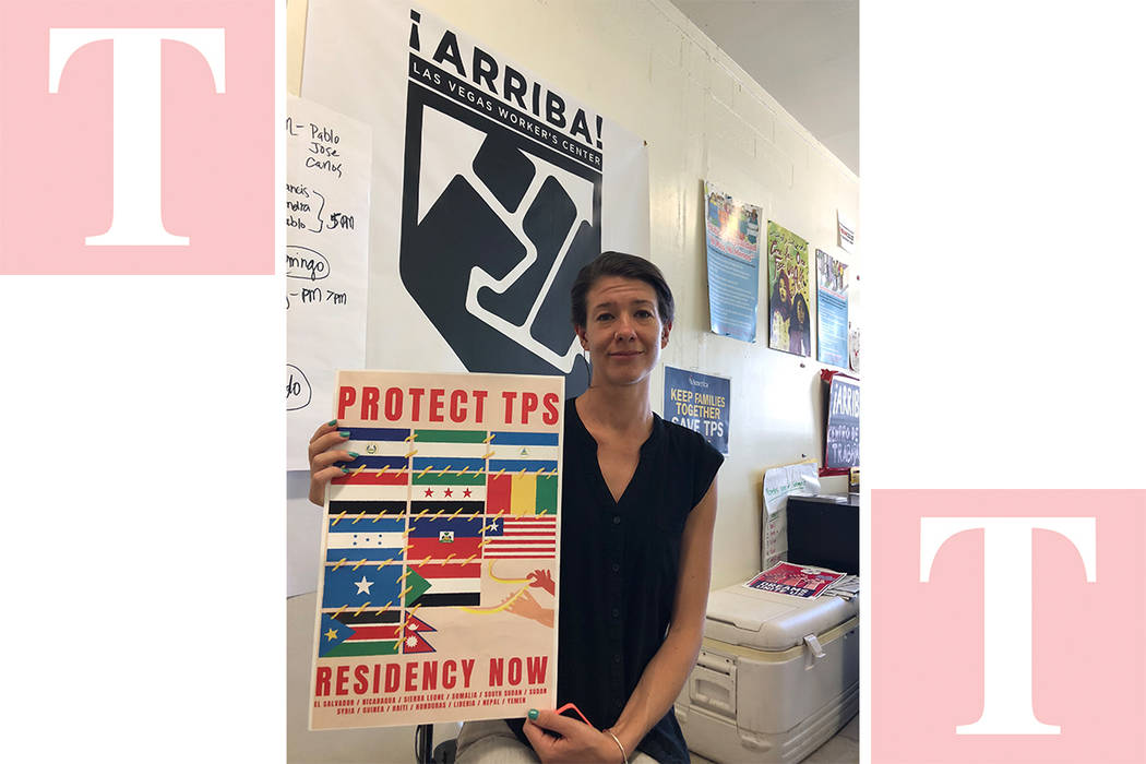 """""""Aquí en las oficinas, hay reuniones para ayudar a los tepesianos"""", dijo Bliss Requa. El jueves 10 de mayo de 2018. Foto Valdemar González - Contribuidor."""