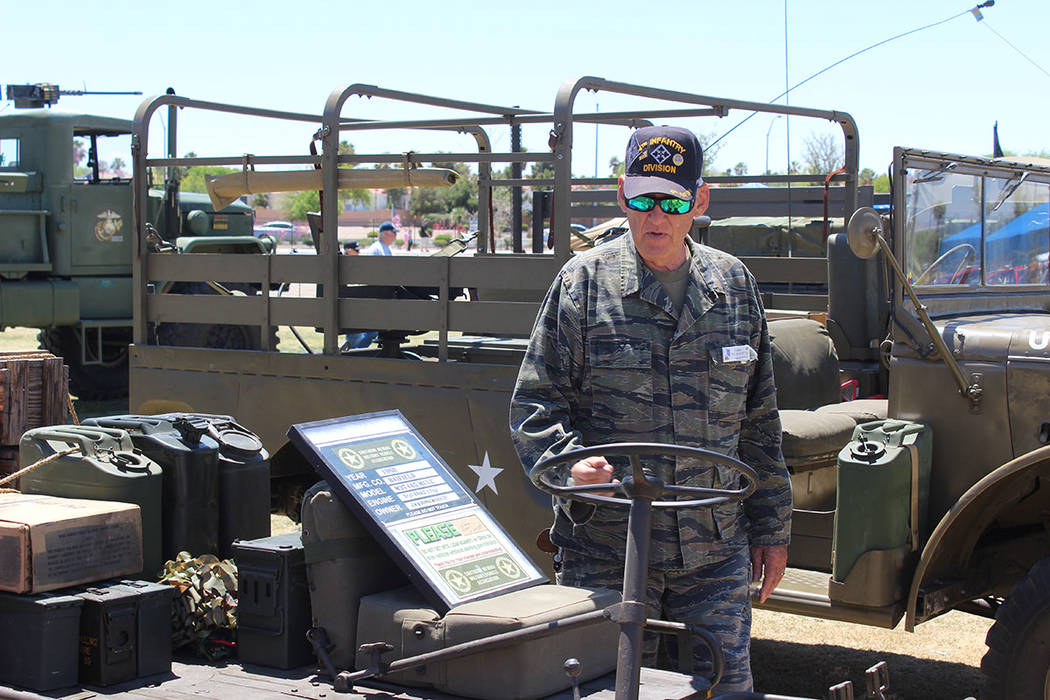 Vehículos de guerra fueron expuestos durante el Festival Patriótico. Sábado 12 de mayo del 2018. Parque Craig Ranch. Foto Cristian De la Rosa / El Tiempo - Contribuidor.