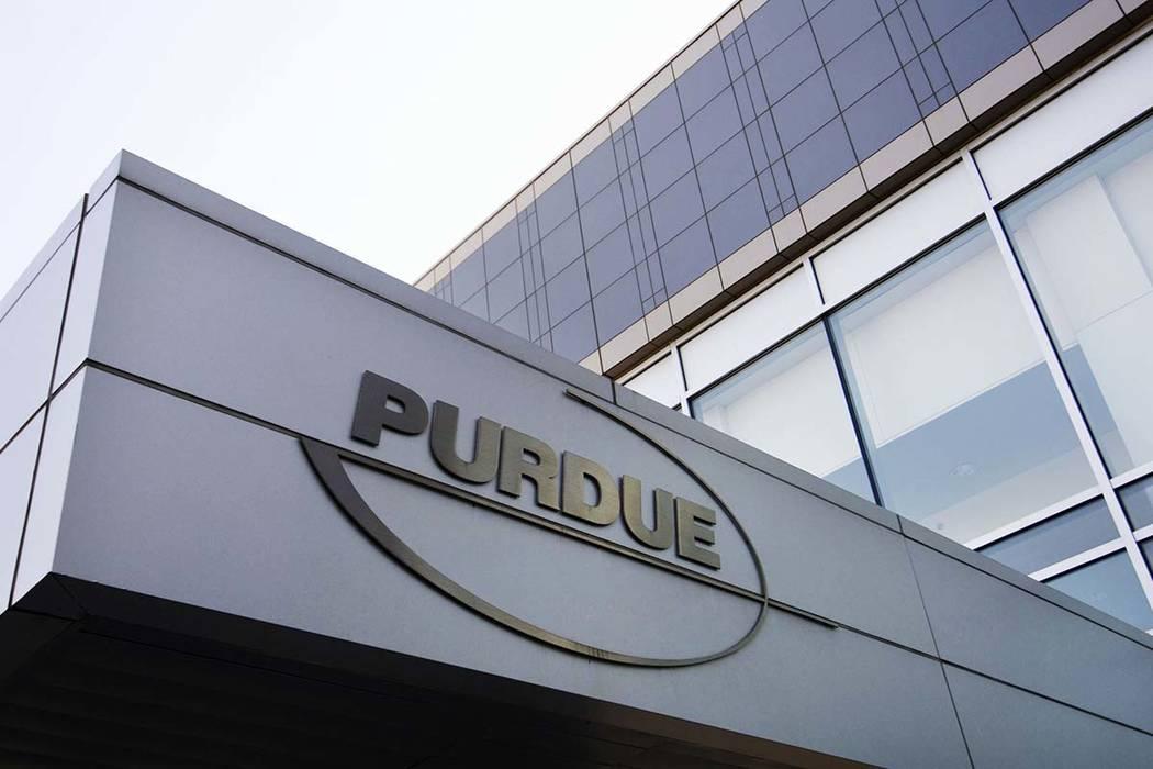Las oficinas de Purdue Pharma en Stamford, Connecticut, se muestran en esta foto de archivo del 8 de mayo de 2007. Nevada y otros cinco estados están presentando nuevas demandas alegando que una ...