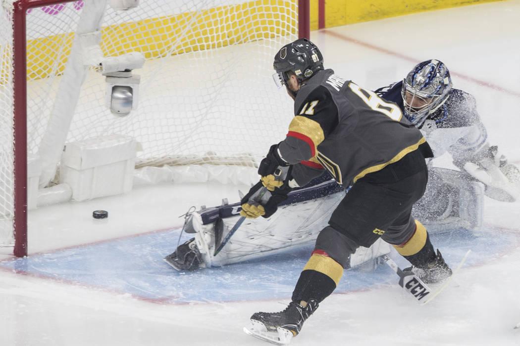 Golden Knights derrotó por 4-2 a Jets, en el tercer juego de la Final de Conferencia Oeste. Miércoles 16 de mayo del 2018 en T-Mobile Arena. Foto Benjamín Hager / Las Vegas Review-Journal.