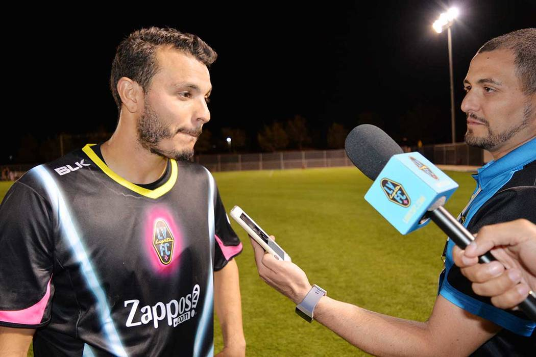 Sammy Ochoa anotó dos goles en contra de FC Tucson y recupera confianza rumbo al partido de liga. Miércoles 16 de mayo en el Peter Johann Field de UNLV. (Foto Frank Alejandre / El Tiempo)