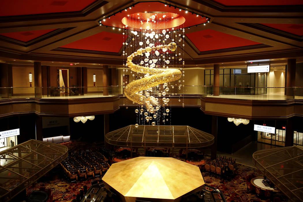 El interior de Lucky Dragon, que cerró las operaciones de los juegos y casinos a principios de enero, en Las Vegas el lunes 19 de febrero de 2018. Andrea Cornejo Las Vegas Review-Journal @DreaCornejo