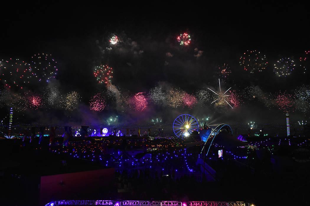 Los fuegos pirotécnicos fueron una atracción del evento. Del 18 al 20 de mayo de 2018 en Autódromo de Las Vegas. Foto Anthony Avellaneda / El Tiempo.