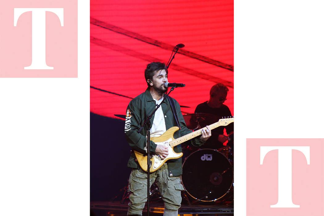 """Juanes ha podido superar su éxito """"La camisa negra"""" del 2004 y se mantiene vigente. Sábado 19 de mayo de 2018, en el escenario del Pearl. Foto Cristian De la Rosa / El Tiempo - Contribuidor."""