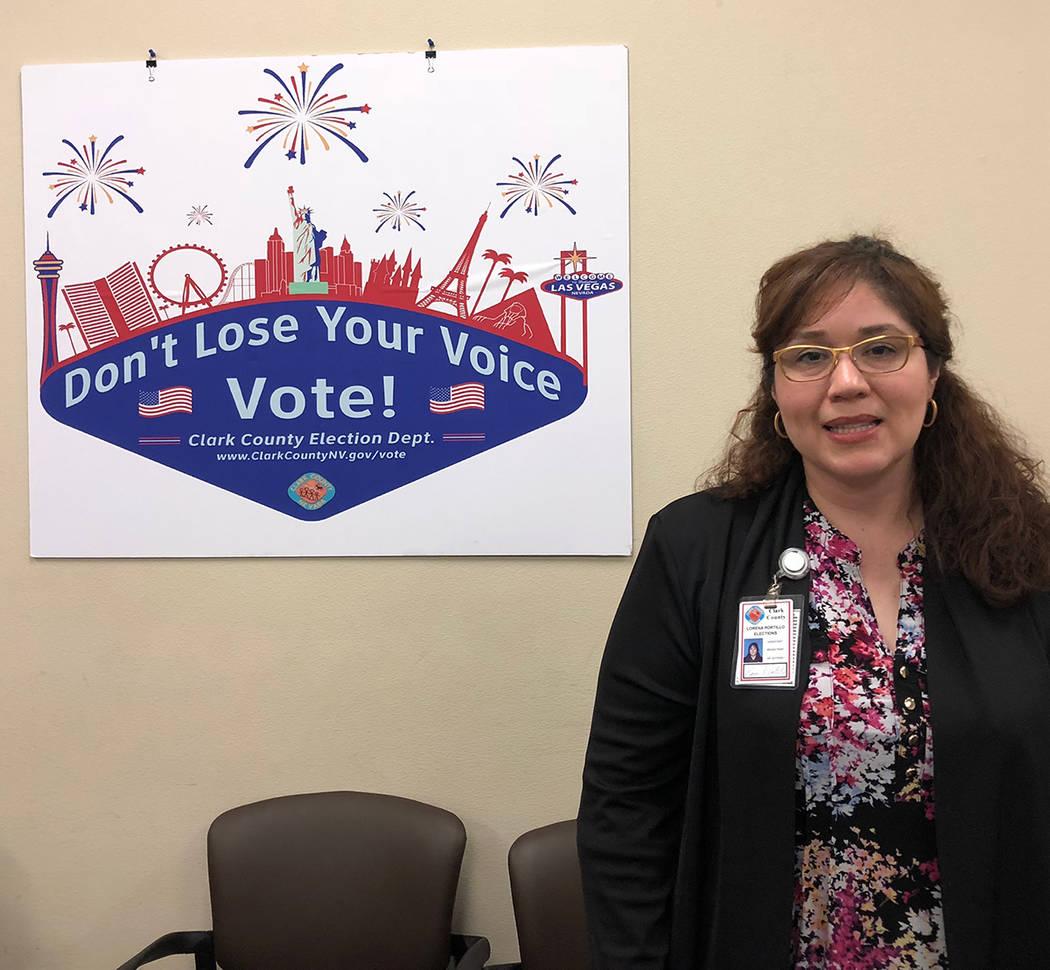 Lorena Portillo, asistente del registrador de electores, del Departamento de Elecciones del Condado Clark. Foto Valdemar González / El Tiempo - Contribuidor.