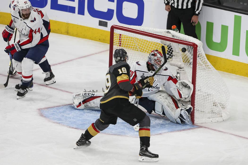 El primer partido de la serie finalizó con marcador de Vegas Golden Knights 6-4 Washington Capitals. Lunes 28 de mayo de 2018 en T-Mobile Arena. Foto Richard Brian / Las Vegas Review Journal.