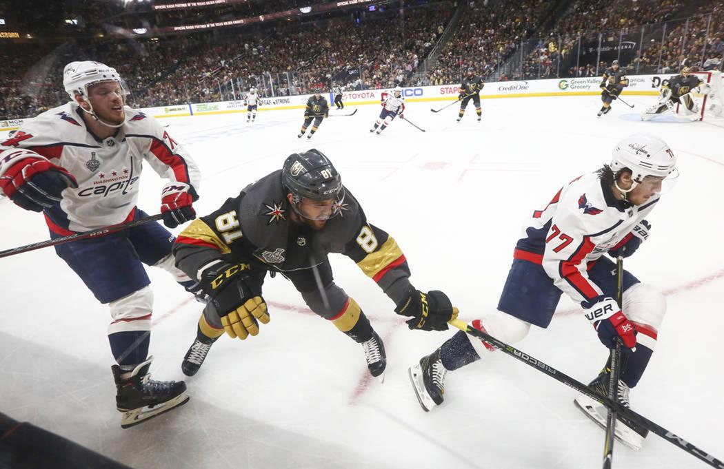 El primer partido de la serie finalizó con marcador de Vegas Golden Knights 6-4 Washington Capitals. Lunes 28 de mayo de 2018 en T-Mobile Arena. Foto Chase Stevens / Las Vegas Review Journal.