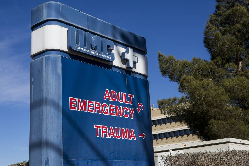 El UMC Trauma Center, el único centro de trauma de nivel 1 de Nevada, en Las Vegas el jueves 25 de enero de 2018. (Las Vegas Review-Journal)