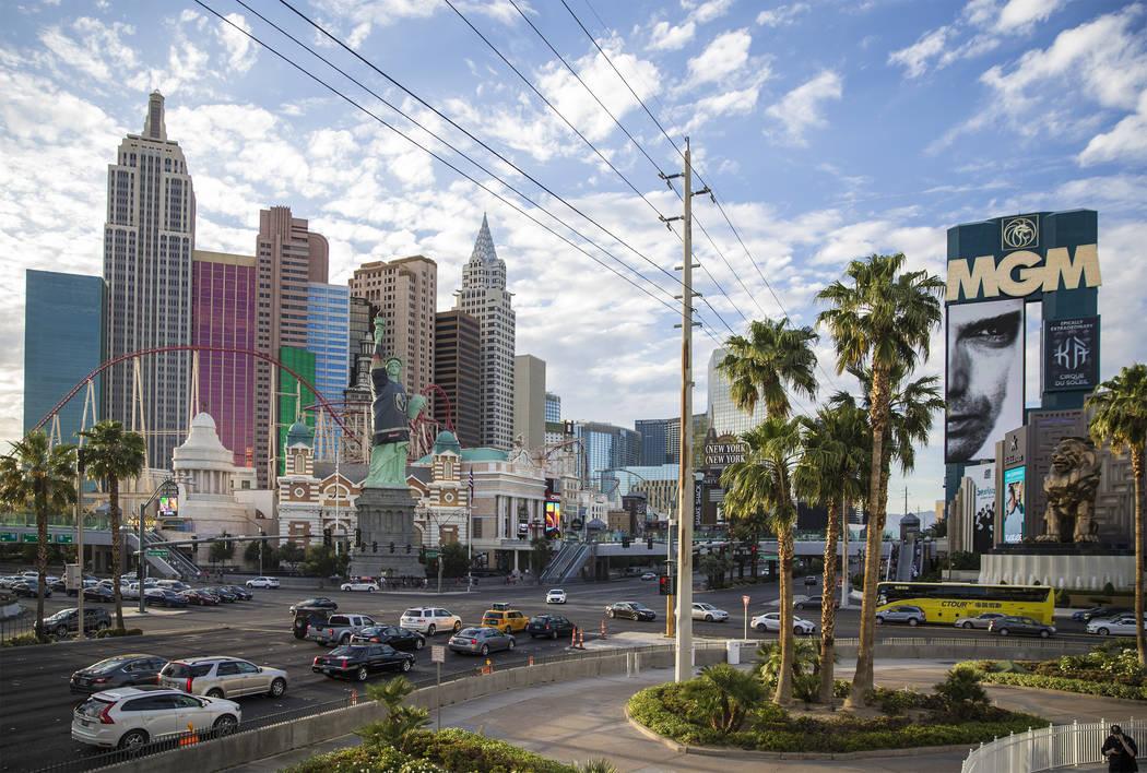 Las Vegas Strip (Benjamin Hager / Las Vegas Review-Journal) @benjaminhphoto