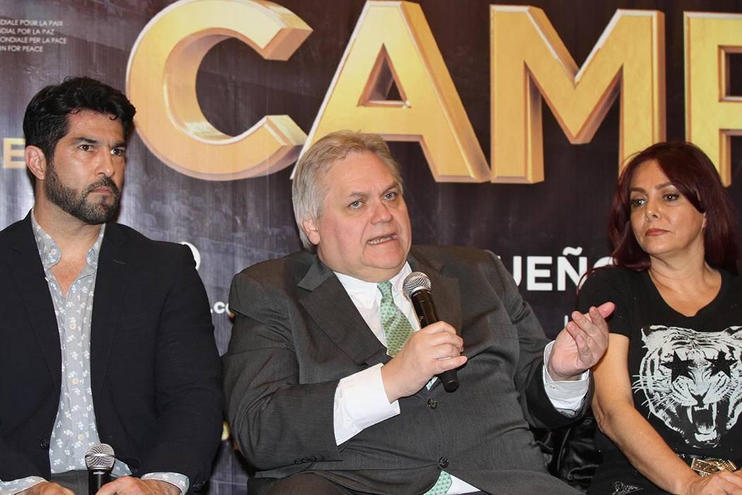 México, 3 May 2018 (Notimex-Gustavo Durán).- Carlos Bremer, presidente del Consejo Value Grupo Financiero y los actores Arturo Carmona y la directora Lourdes Deschamps participaron en la confere ...
