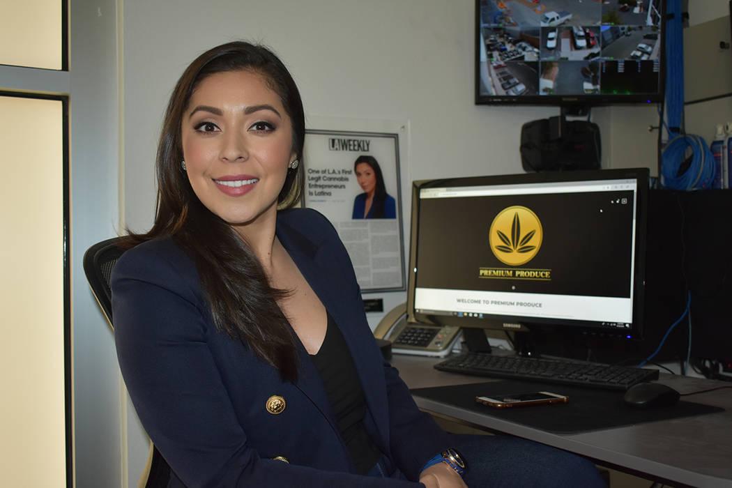 """""""La marihuana ayuda a gente con epilepsia, inflamaciones, alta presión y dolor"""": Priscilla Vilchis, empresaria. Martes 29 de mayo en Premium Produce. Foto Anthony Avellaneda / El Tiempo."""