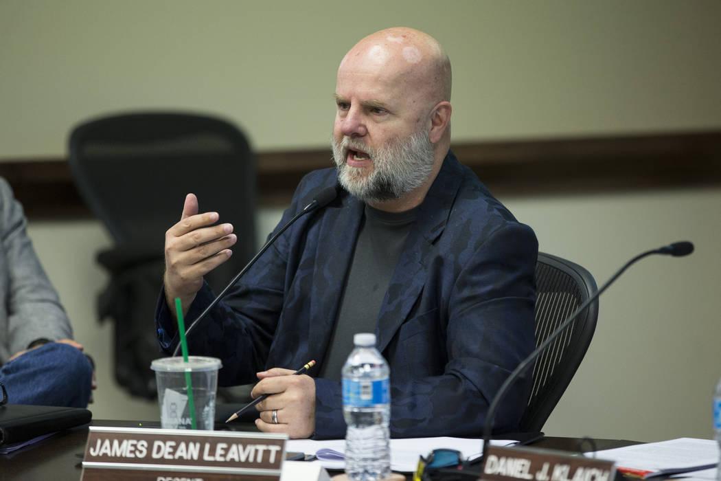 James Dean Leavitt, visto en 2016 en Las Vegas. (Erik Verduzco / Las Vegas Review-Journal)