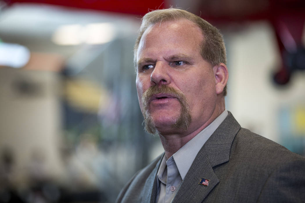 El fideicomisario Kevin Child de la Junta Escolar del Condado de Clark, visto en 2017. (Las Vegas Review-Journal)