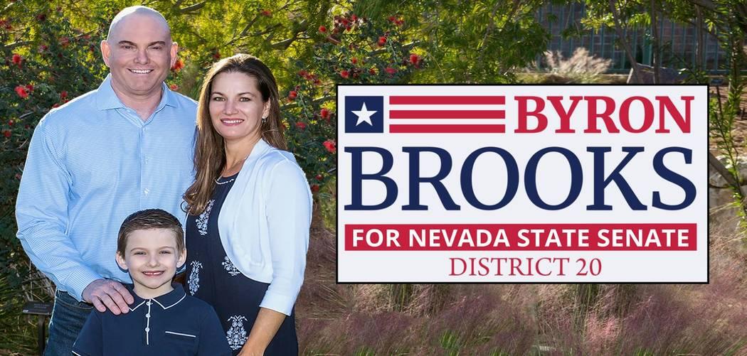 Foto de Byron Brooks tomada desde el sitio web de su campaña.