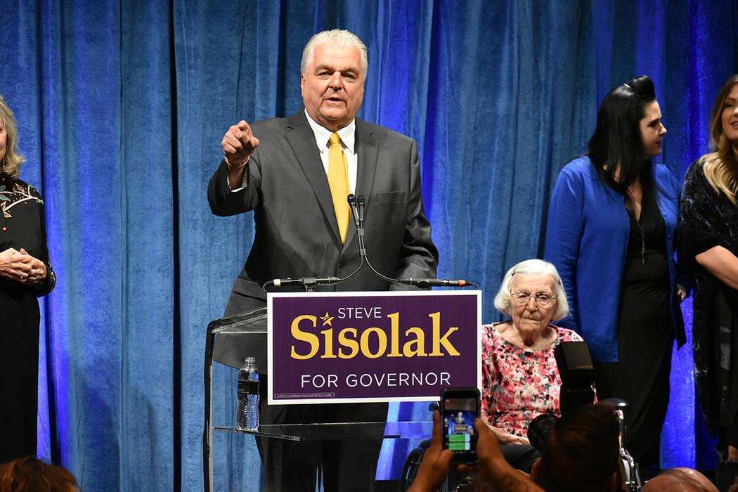 Steve Sisolak ganó ampliamente la elección primaria del partido demócrata. Martes 12 de junio en el Aria hotel & casino. Foto Anthony Avellaneda / El Tiempo.