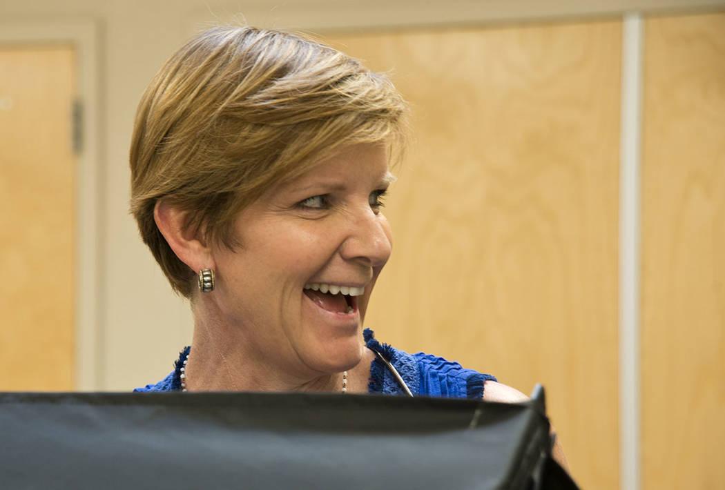 Susie Lee es una candidata demócrata para el 3er distrito congresional de Nevada. (Daniel Clark / Las Vegas Review-Journal) @DanJClarkPhoto