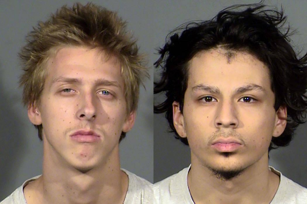 Kody Harlan, izquierda, y Jaiden Caruso (Departamento de Policía de Henderson)