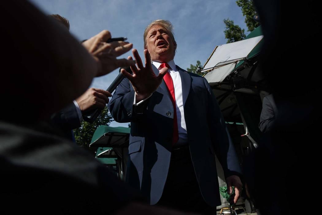 El presidente Donald Trump habla a los periodistas en la Casa Blanca, el viernes 15 de junio de 2018 en Washington. (AP Photo / Evan Vucci)