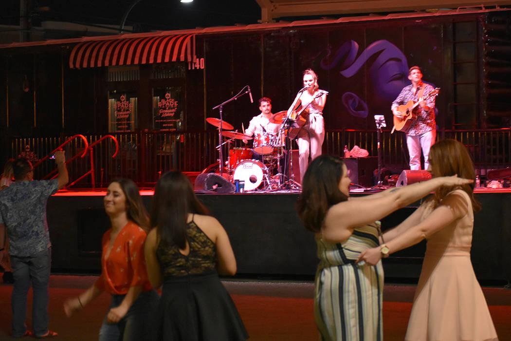 Noelle Chiodo confesó a El Tiempo que tiene cariño por sus raíces latinas. Sábado 16 de junio de 2018 en Downtown Container Park. Foto Anthony Avellaneda / El Tiempo.