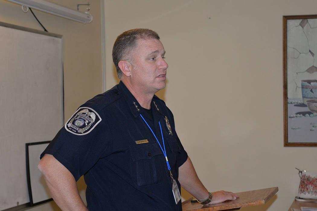 Justin R. Roberts, nuevo jefe de policía de North Las Vegas. Miércoles 13 de junio, en la iglesia San Cristóbal. Foto Frank Alejandre / El Tiempo.
