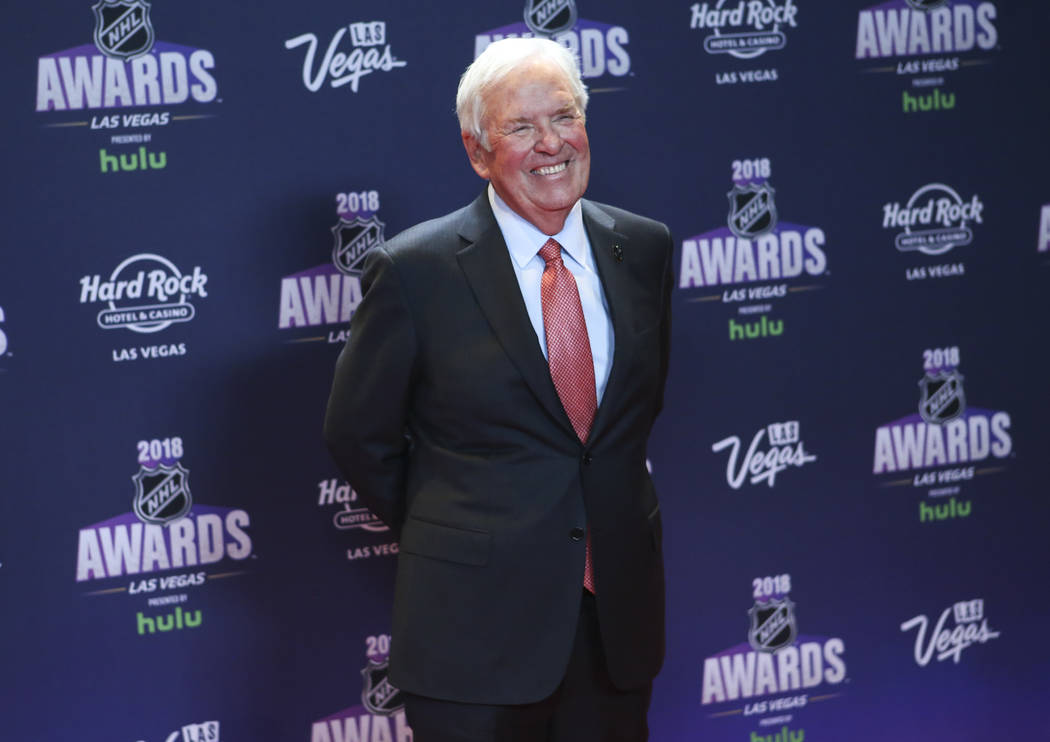 El propietario de Golden Knights, Bill Foley, posa en la alfombra roja antes de los Premios NHL en el Hard Rock Hotel de Las Vegas el miércoles 20 de junio de 2018. Chase Stevens Las Vegas Review ...