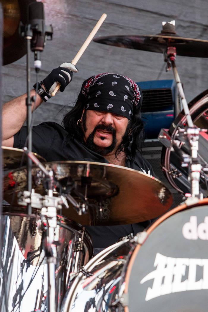 Vinnie Paul de Hellyeah se presentará durante el Festival Rockstar Energy Drink Mayhem 2015 en el Anfiteatro de San Manuel el sábado 27 de junio de 2015 en San Bernardino, California (Foto de Pa ...