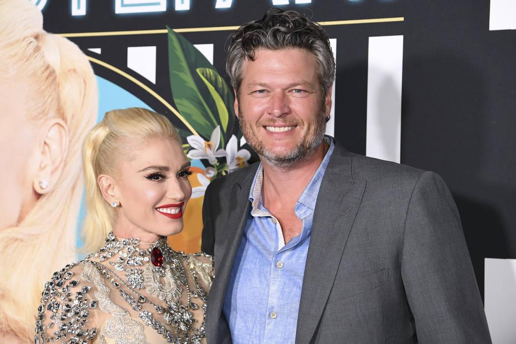 Gwen Stefani y Blake Shelton llegan a la alfombra roja para su nueva residencia en Planet Hollywood en Las Vegas, el jueves 28 de junio de 2018. (Sam Morris / Las Vegas News Bureau)