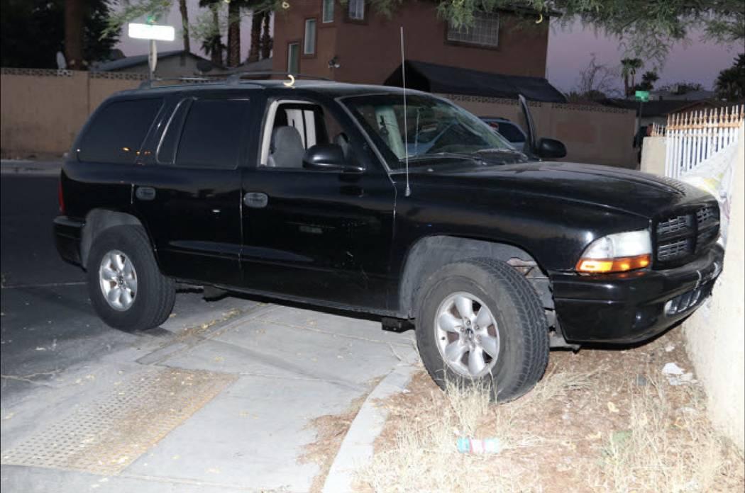 El Dodge Durango 2003 negro que la policía de Las Vegas dice que conducía Jessie Murillo. Departamento de Policía Metropolitana de Las Vegas.