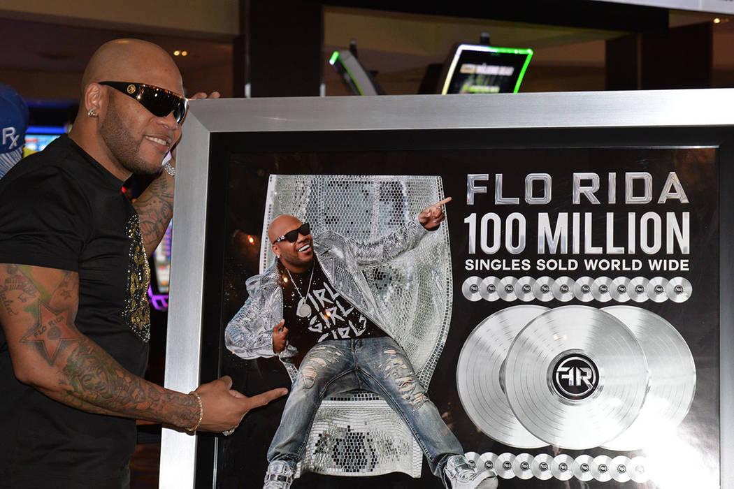Flo Rida ha vendido millones de discos, tal y como lo muestra la foto. Viernes 29 de junio de 2018, en el Hard Rock hotel & casino. Foto Frank Alejandre / El Tiempo.