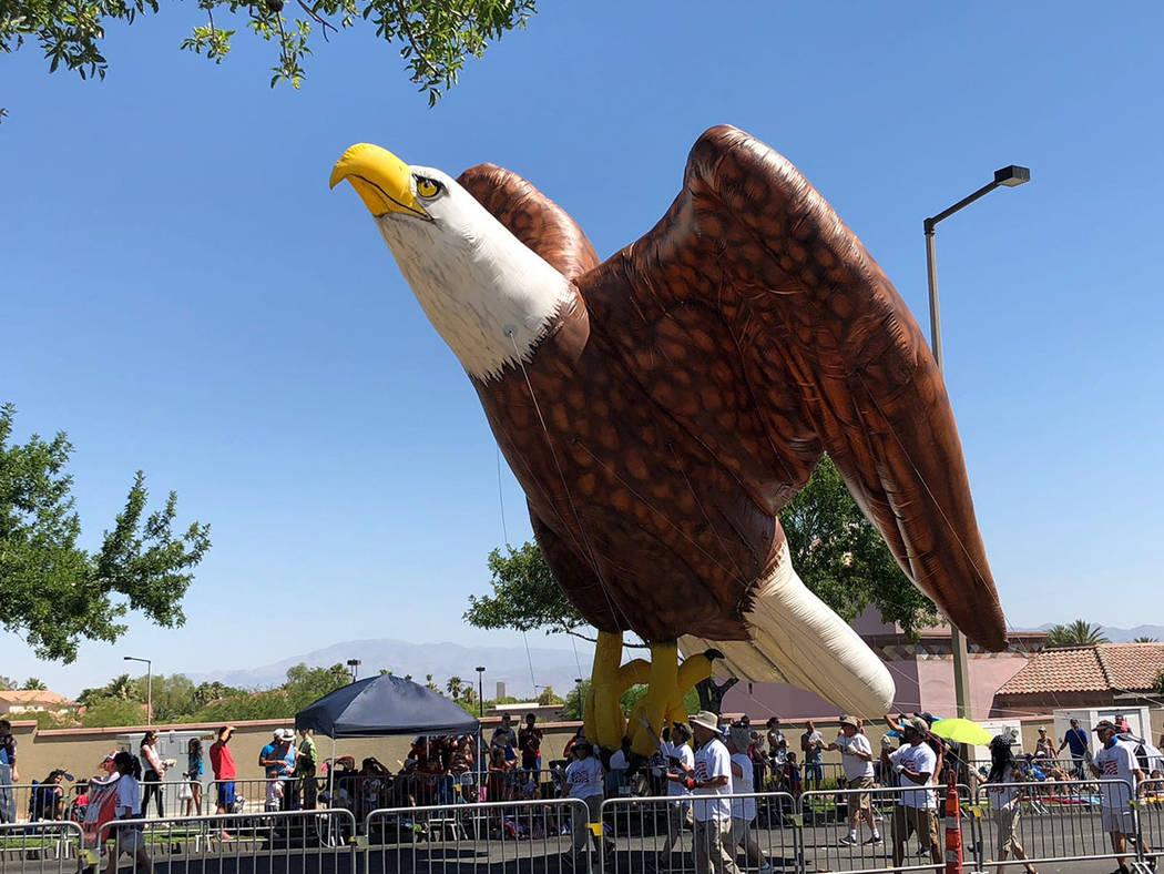 El águila calva, símbolo estadounidense. Miércoles 4 de julio de 2018, en Summerlin. Foto Cortesía.