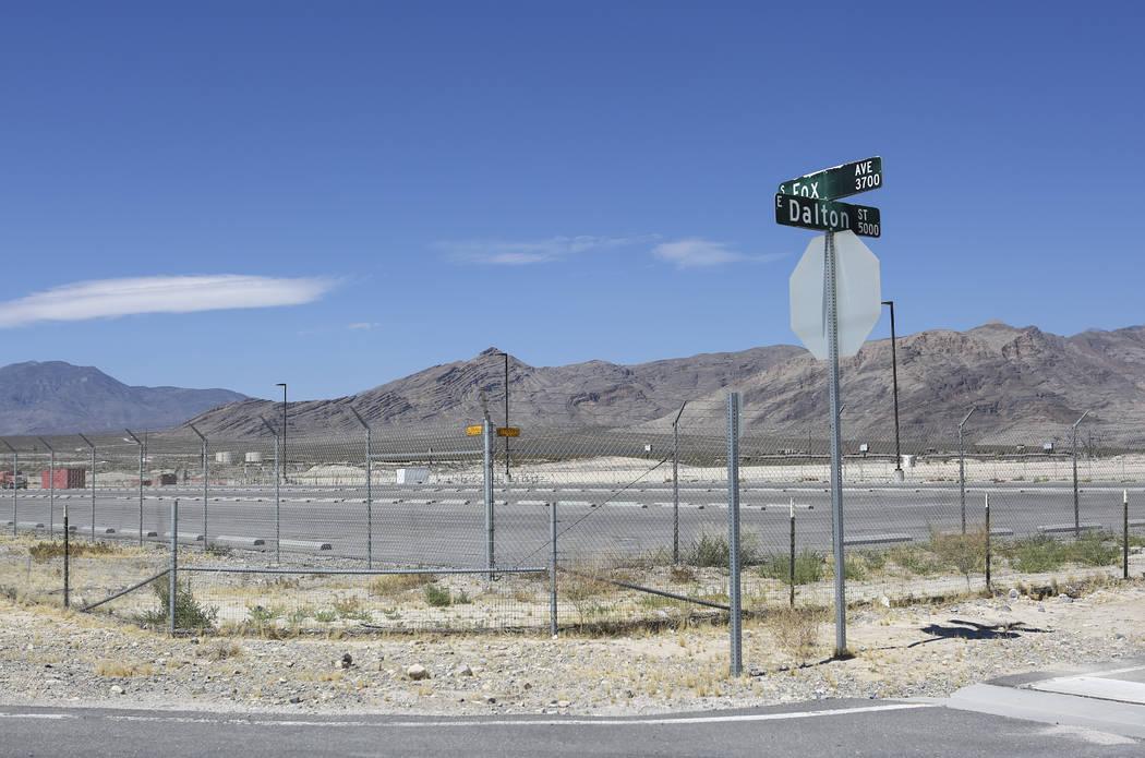 El sitio de seguridad de fuegos artificiales en Pahrump el jueves 5 de julio de 2018. Chase Stevens Las Vegas Review-Journal @csstevensphoto