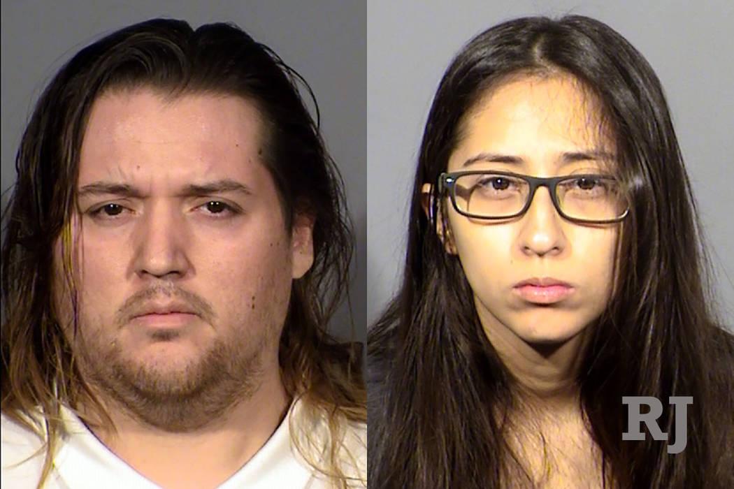 Anthony Oceja, 30, y Loreana Martinez, 25 (Departamento de la Policía Metropolitana de Las Vegas)