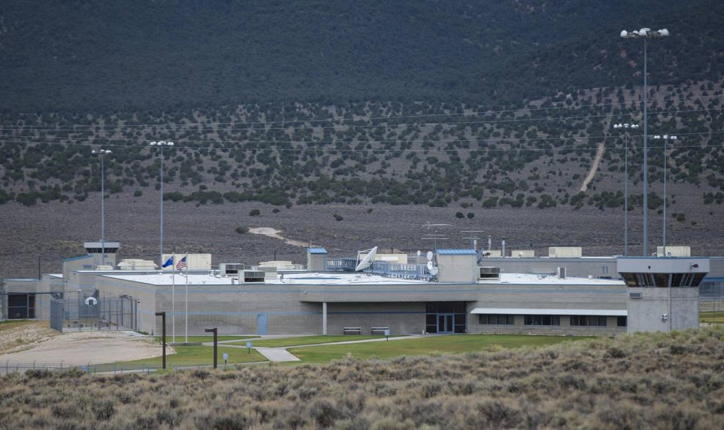 Una vista de la Prisión Estatal Ely antes de la ejecución de Scott Dozier, programado para el miércoles, en Ely el martes 10 de julio de 2018. Chase Stevens Las Vegas Review-Journal @csstevensphoto